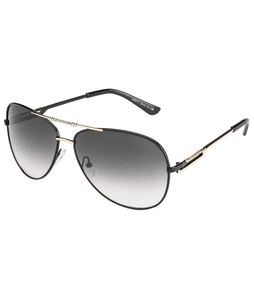 Vincent Chase Elegant Fashionable Black & Gray Aviator Sunglasses