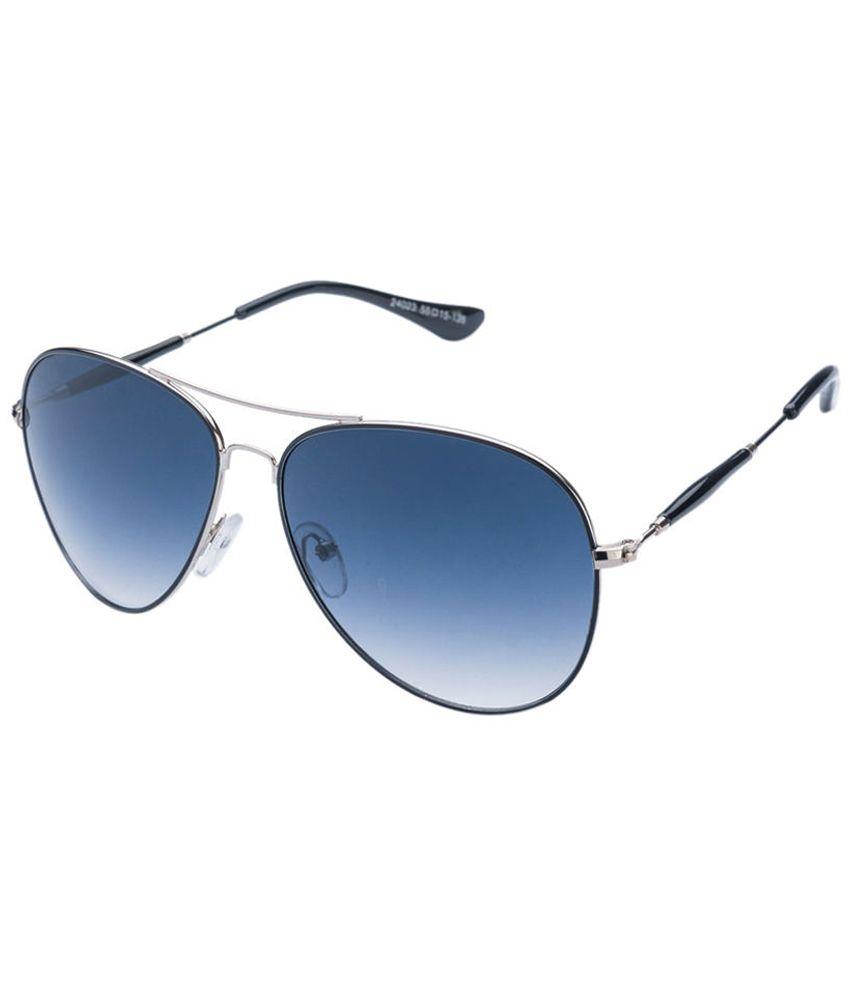 Vincent Chase Impressive Black & Blue Aviator Sunglasses