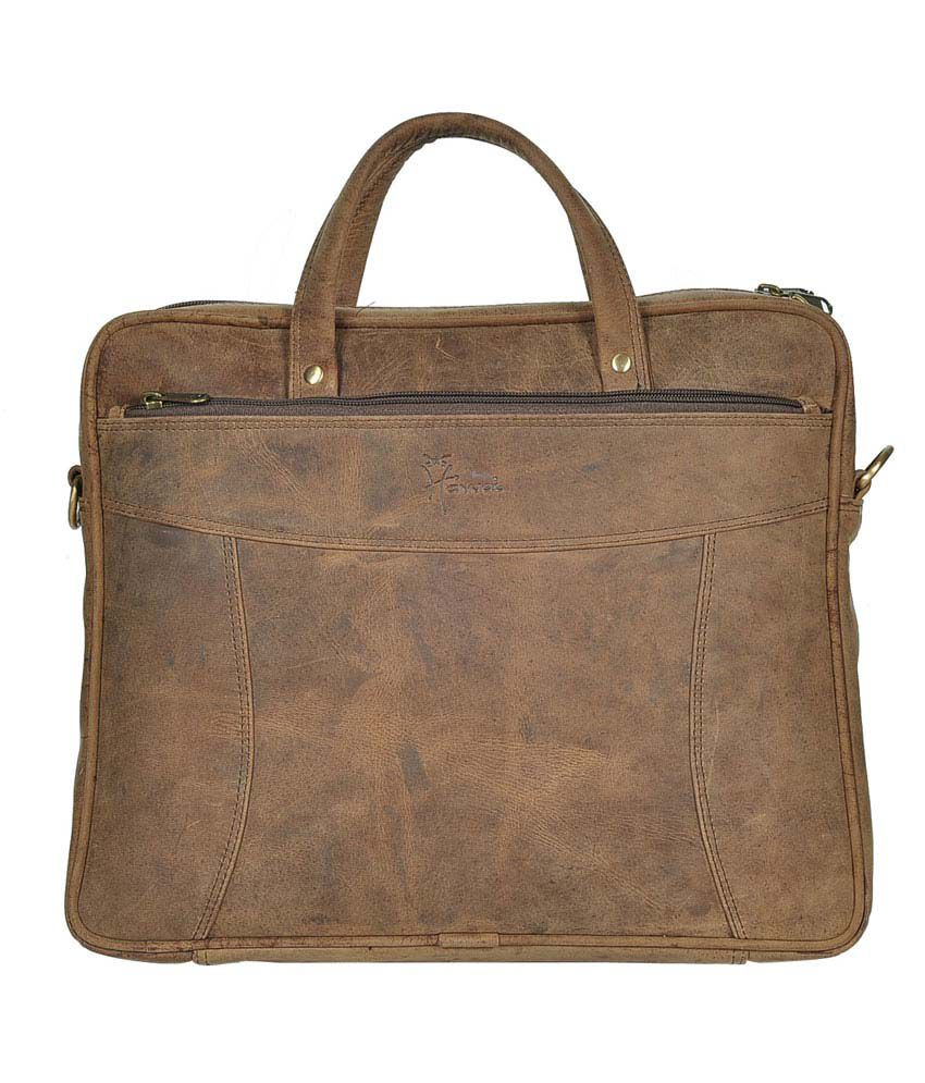 Hawai Tan Hunter Leather Mini Laptop Bag