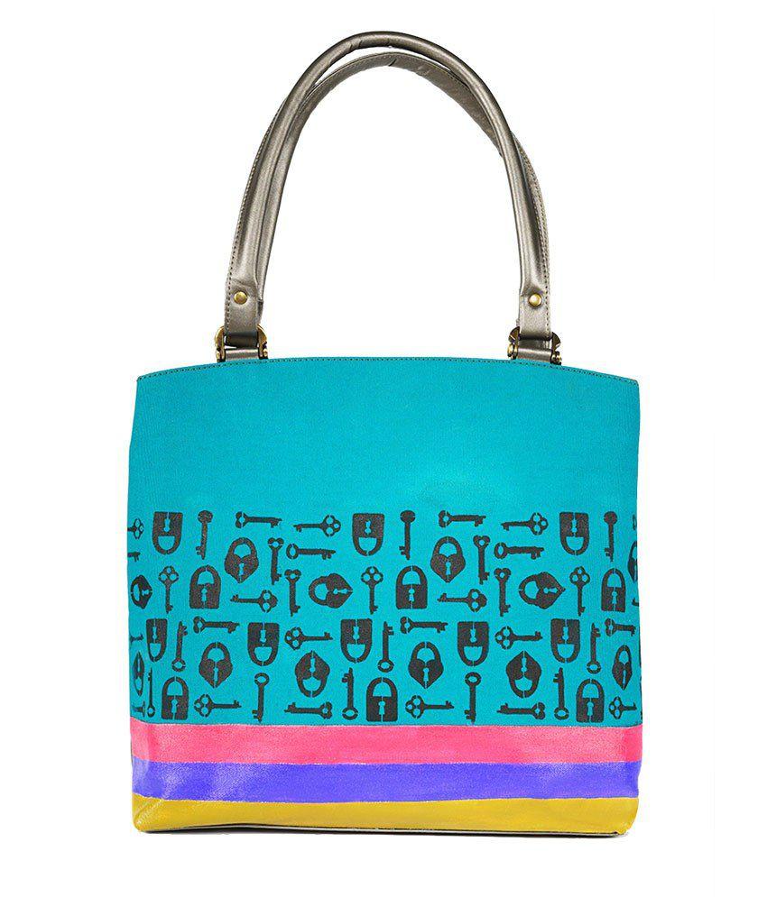 Rang Rage Locked Masaba Handbag - Turquoise