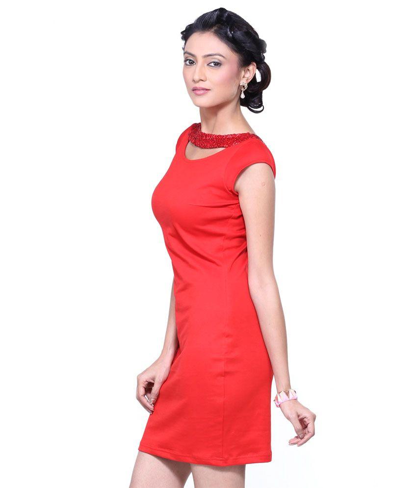 d404adc9e8 Vea Kupia Red Cotton Dresses - Buy Vea Kupia Red Cotton Dresses ...