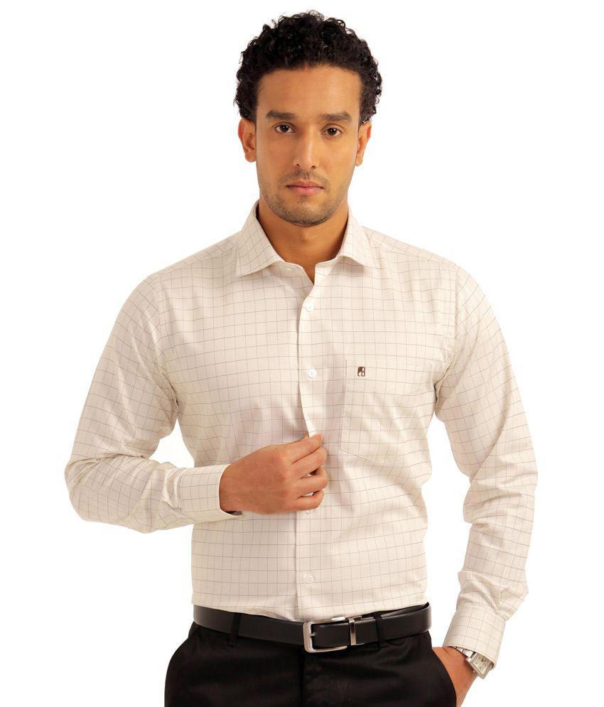 Balista white cotton full sleeve formal shirt for men for Formal shirts for men online