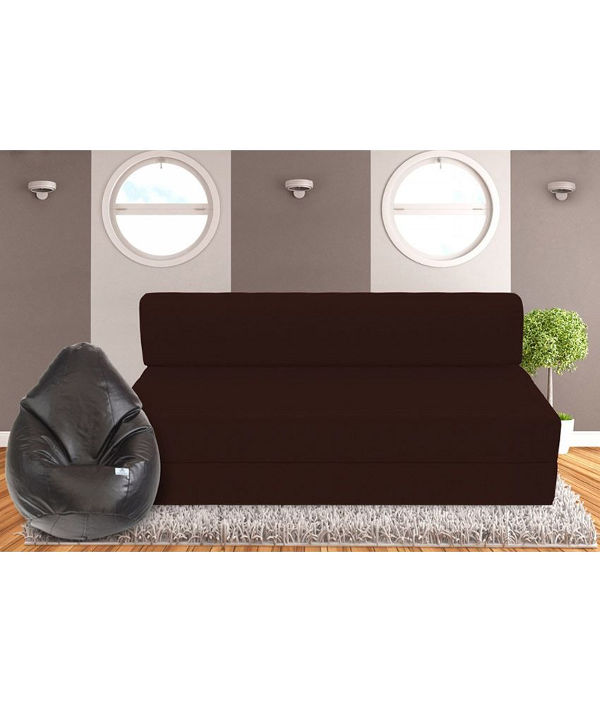 zeal 3 seater sofa cum bed with free bean bag xxl cover buy zeal 3 rh snapdeal com