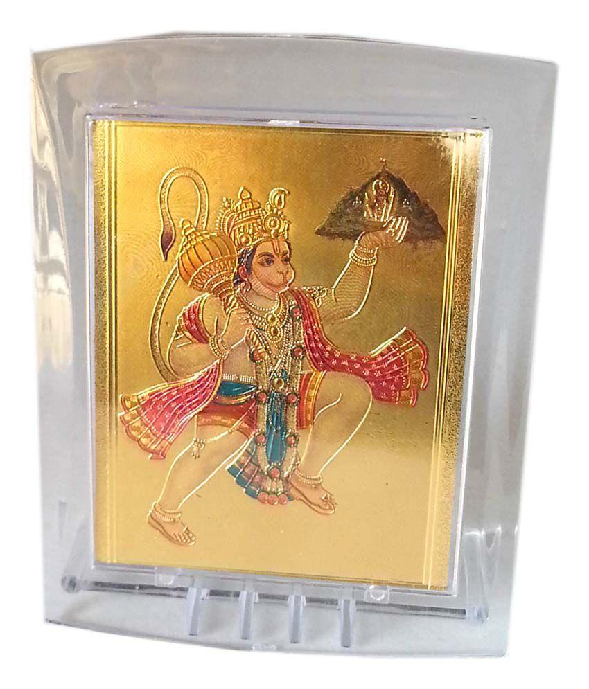 Gold Art 4 U Gold Foil Hanuman God Image With Frame