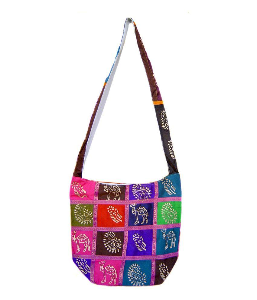 Buy Rastogi Handicrafts Pink Colour Trendy Sling Bag At Best Prices