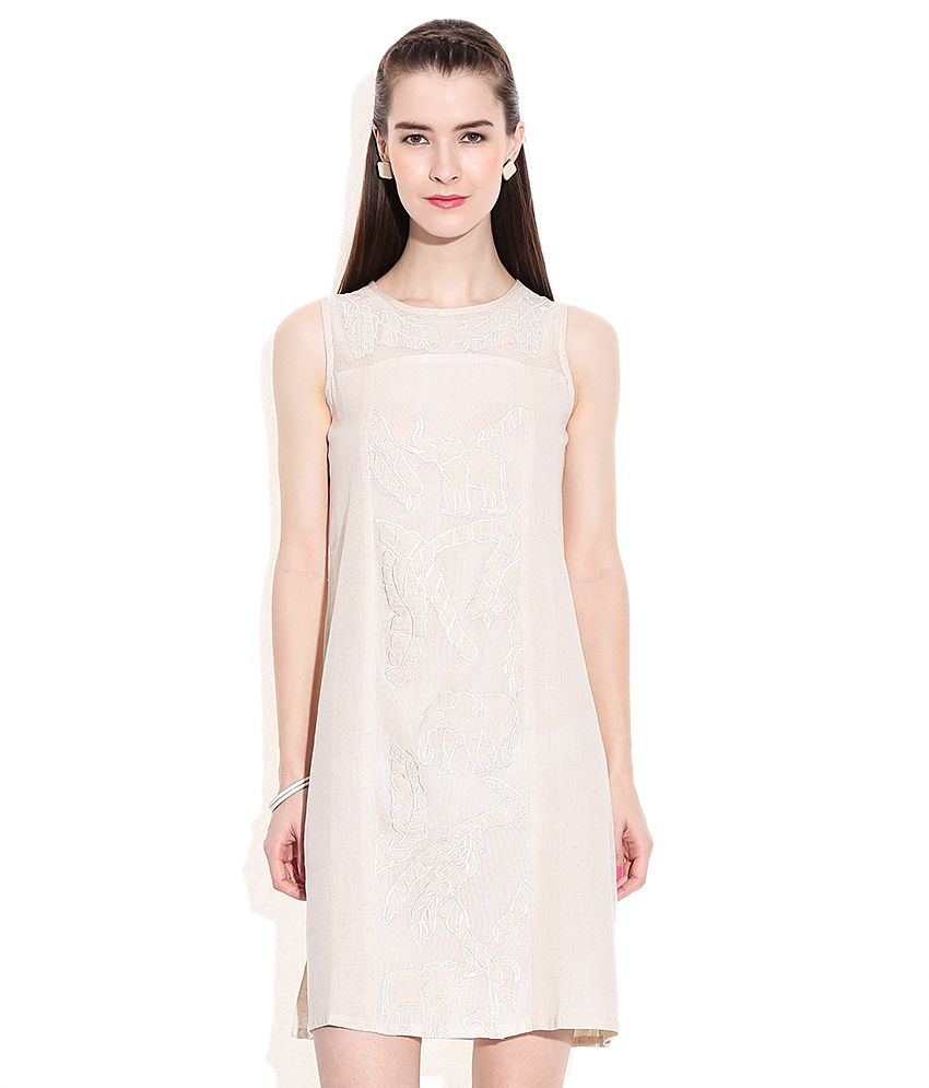 bdcb21ea8b0 Global Desi White Linen Dresses - Buy Global Desi White Linen Dresses  Online at Best Prices in India on Snapdeal