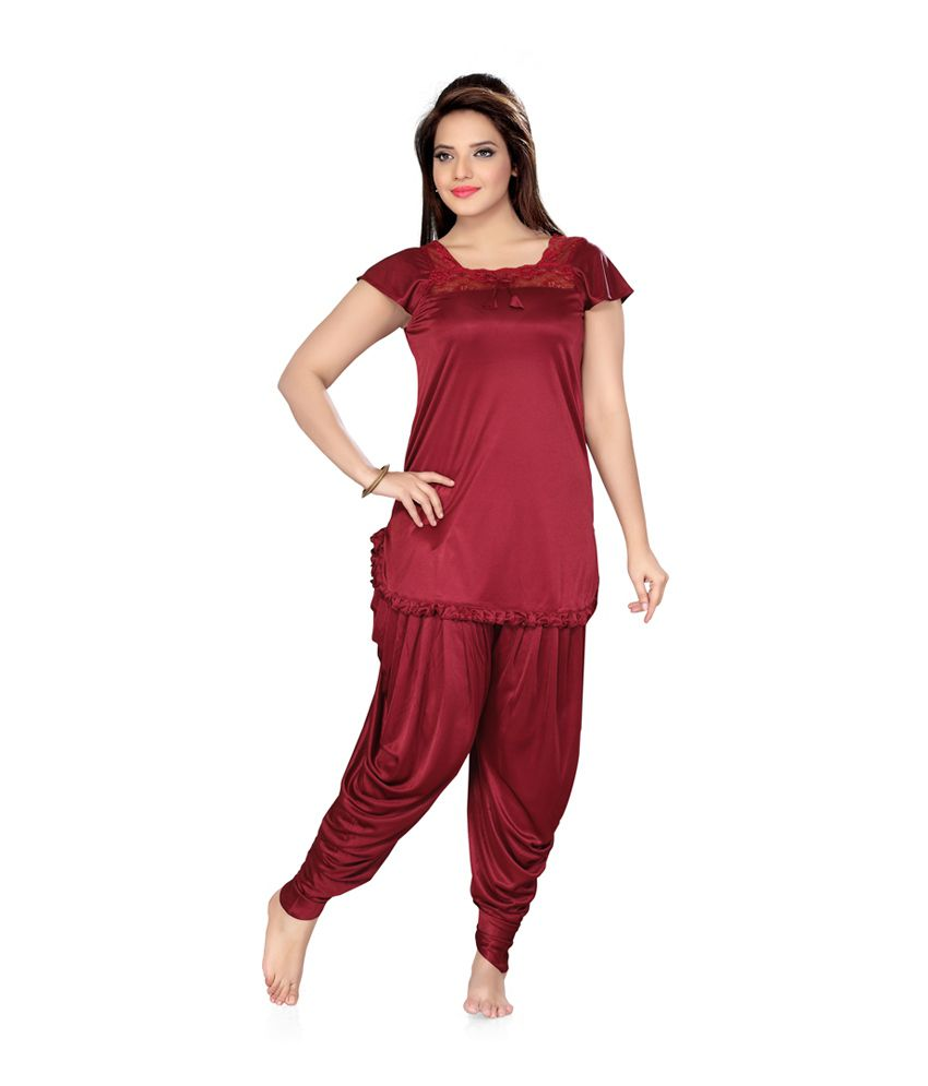 94d14926855 Buy ISHIN Prints Satin Nightsuit Sets Online at Best Prices in India -  Snapdeal