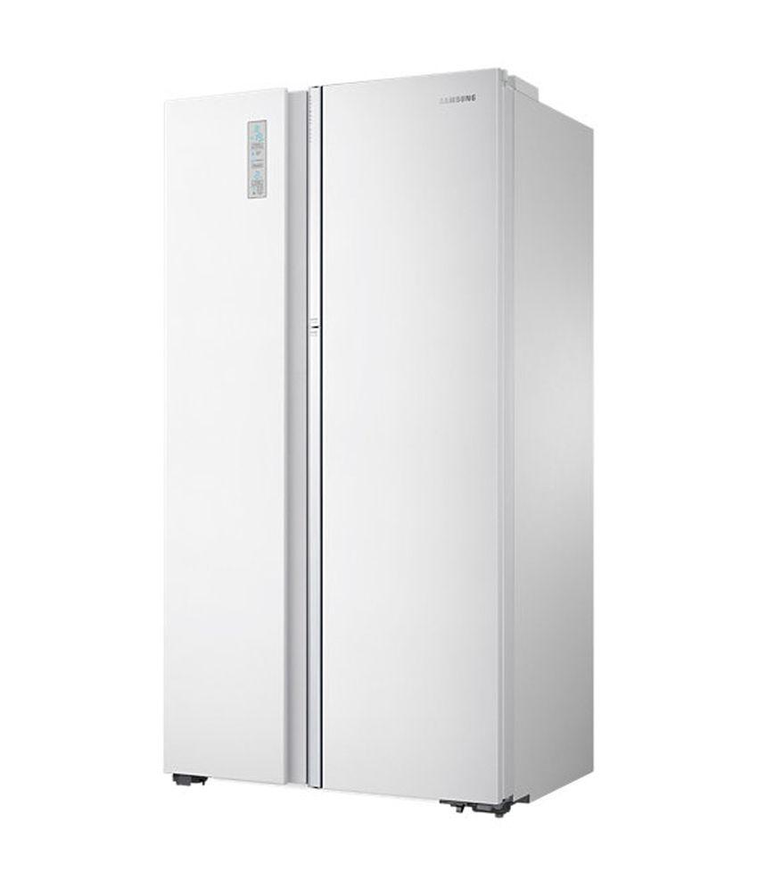 Samsung 868 Ltr Rh80h8130wztl Side By Side Refrigerator Pearl