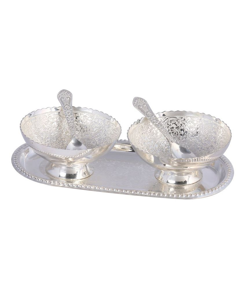Dp International Silver Plated Bowl - Set Of 2