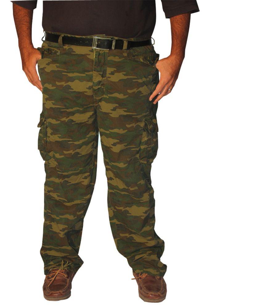 Madcaps Khaki Camoflague Military Bigsize Cargo Pant