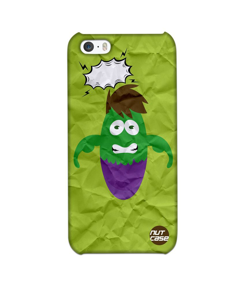 Nutcase Designer Back Cover for Apple iPhone 5S - Hulk Cartoon