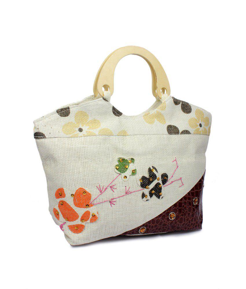 Stylz Brown Jute Shoulder Bags