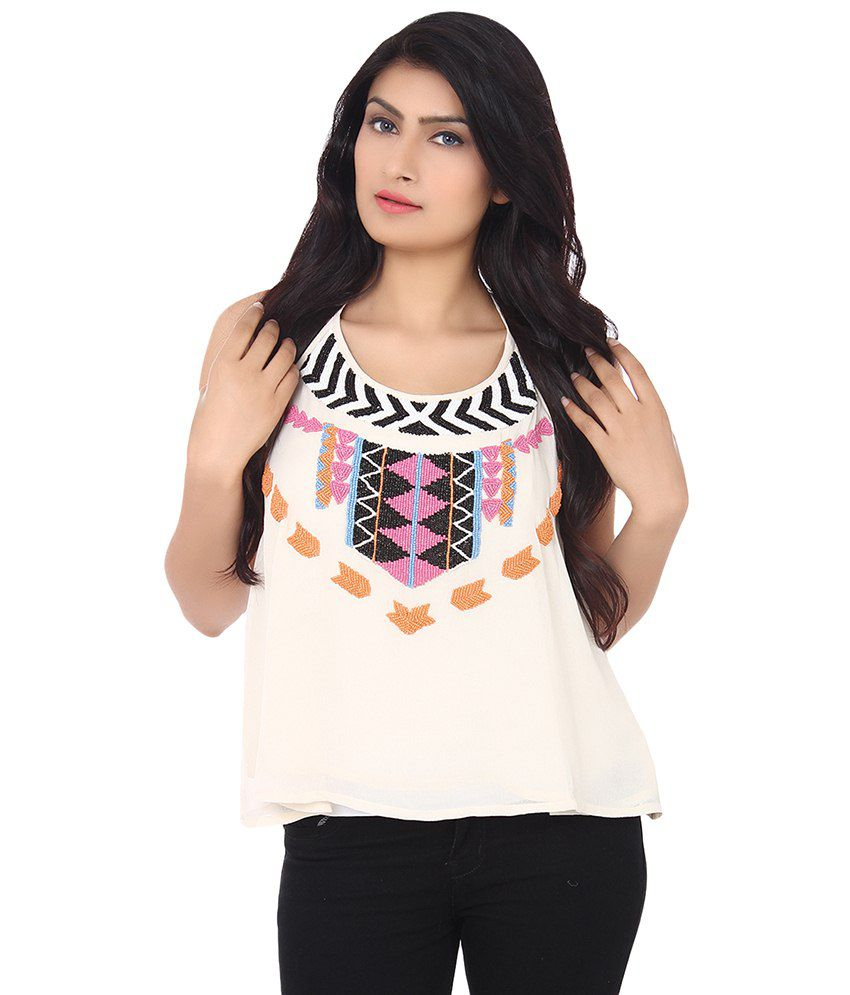 089043752bed Forever21 White Polyester Tops - Buy Forever21 White Polyester Tops Online  at Best Prices in India on Snapdeal