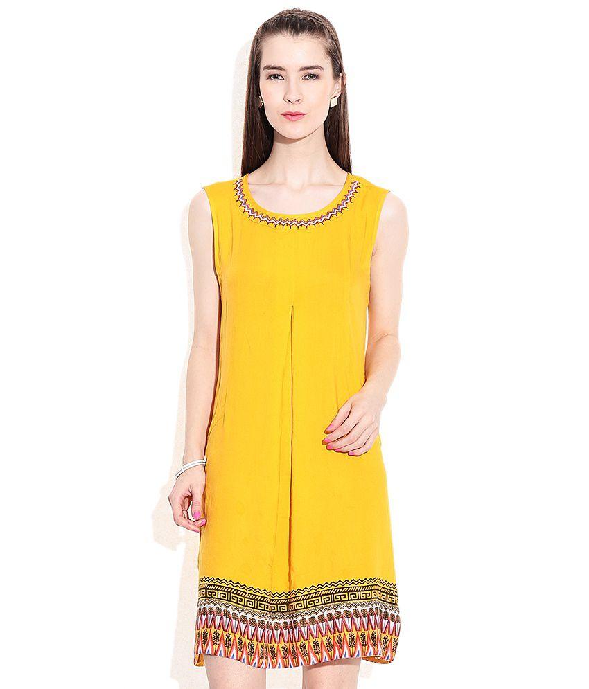 bb296674fd4 Global Desi Yellow Dress Price in India
