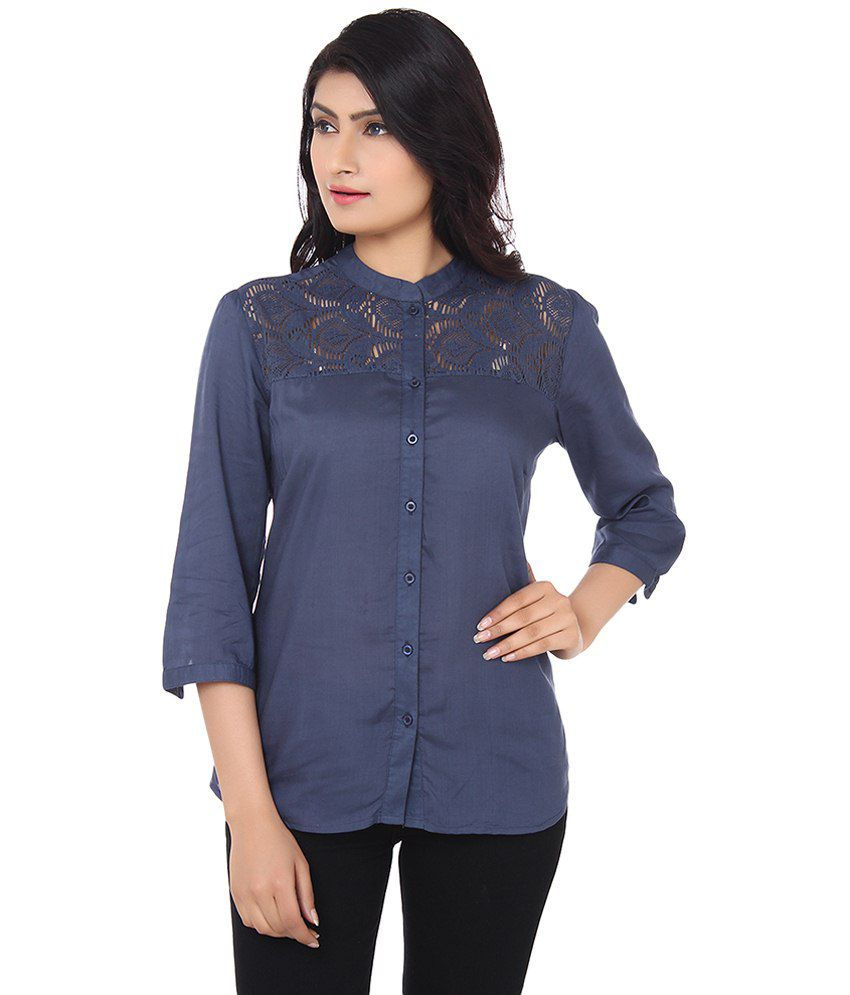 c380f397 Buy H&M Navy Cotton Shirts Online at Best Prices in India - Snapdeal