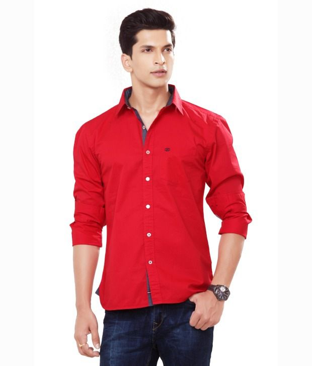 6755356c L.a. Seven Red Cotton Slim Fit Full Shirt - Buy L.a. Seven Red Cotton Slim  Fit Full Shirt Online at Best Prices in India on Snapdeal