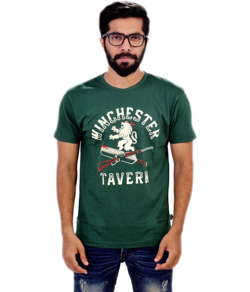 Glittarati Winchester Tavern Themed Men's Green T-Shirt
