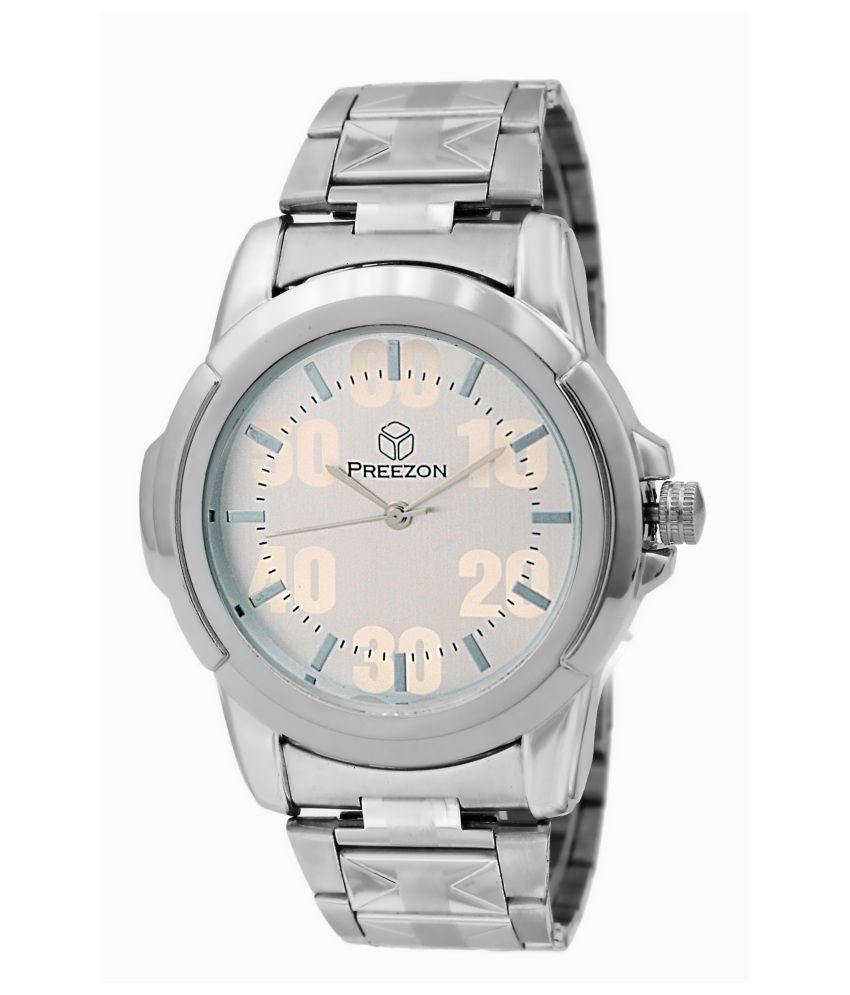 Preezon Tiger Analog Men Watch Silver
