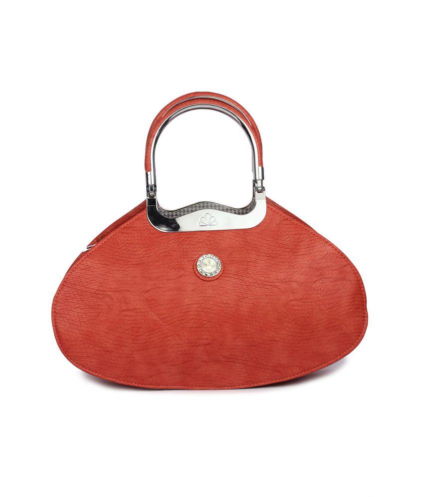 Maiden Orange P.U. Shoulder Bag