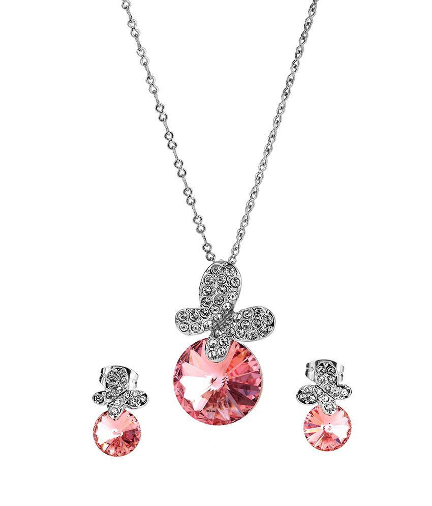 Rigant Pink Owl Jewellery Set