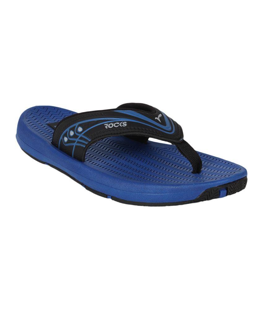 Wsl Rocks Hydra Anti Skid Blue Slippers