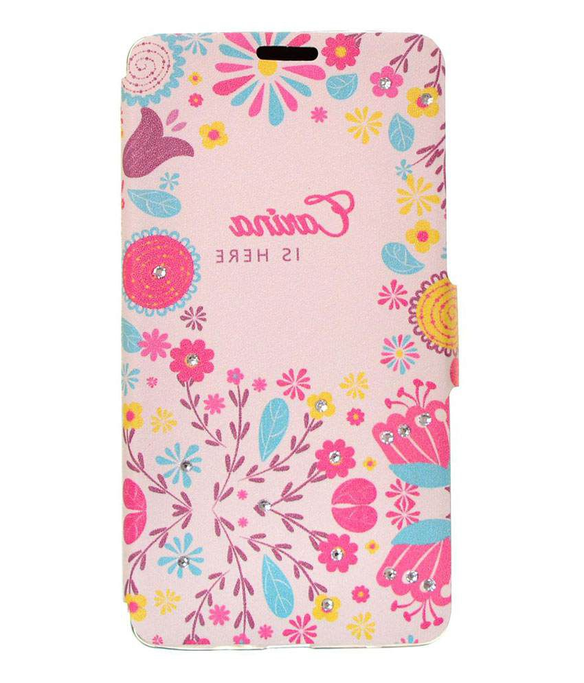 newest 9b0f4 ec530 Dressmyphone Printed Flip Cover with Rhinestones for Xiaomi RedMi Note -  White