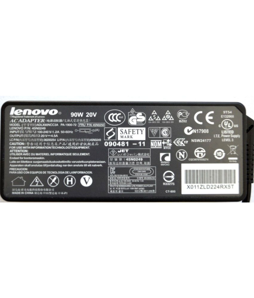 Lenovo ThinkPad 40Y7700 Original Box 90 Watt Laptop Adapter With Free Clean India Wooden Pen