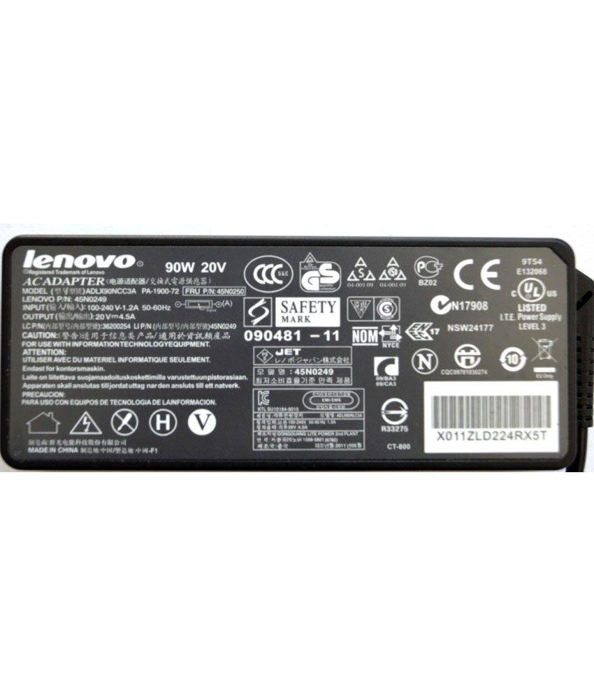 Lenovo ThinkPad X201 Original Box 90 Watt Laptop Adapter With Free Clean India Wooden Pen