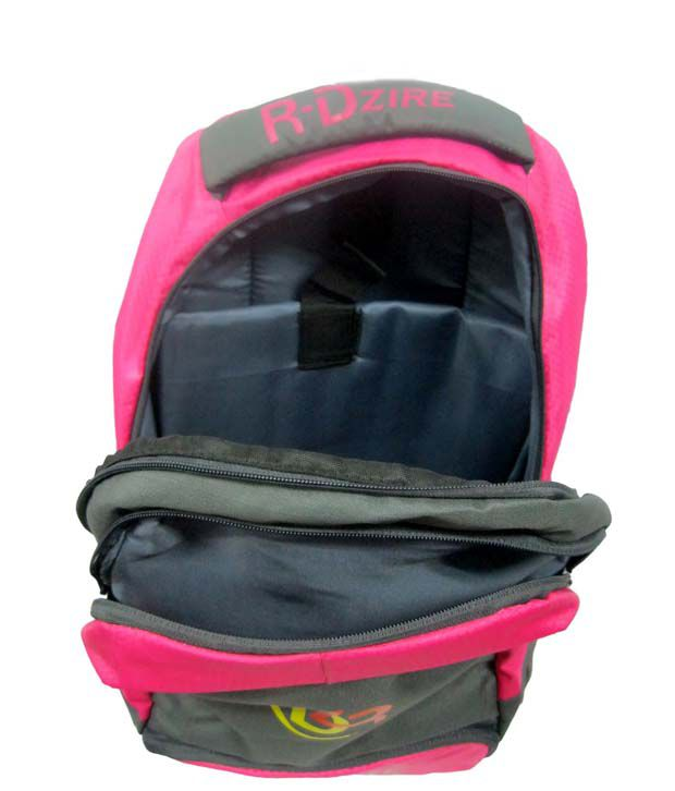 R-dzire Pink Water Resistant Laptop Backpack