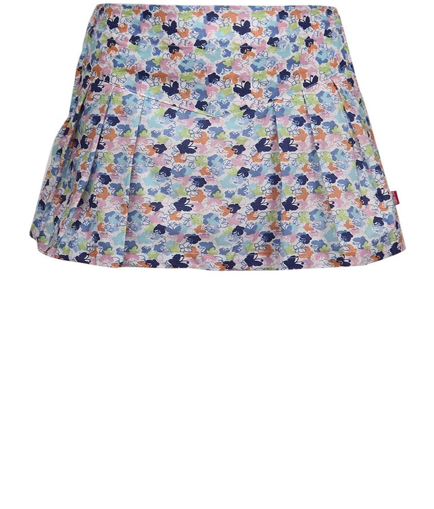 Dreamszone Multi Color Printed Skirts For Kids