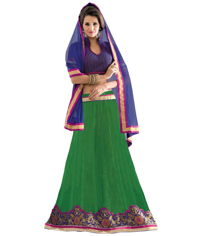 d8e86db445 Florence Green Net Embroidered Lehenga - Buy Florence Green Net Embroidered Lehenga  Online at Best Prices in India on Snapdeal