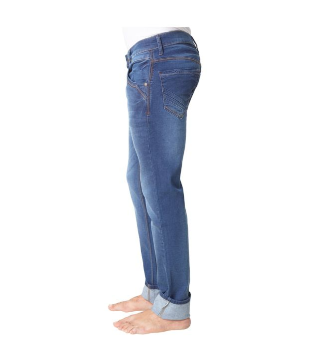 Klix Jeans Blue Cotton Jeans