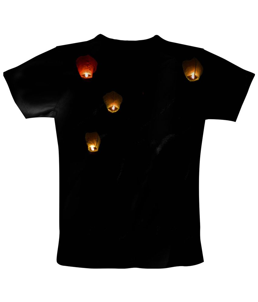 Freecultr Express Black Lantern Skies Printed T Shirt