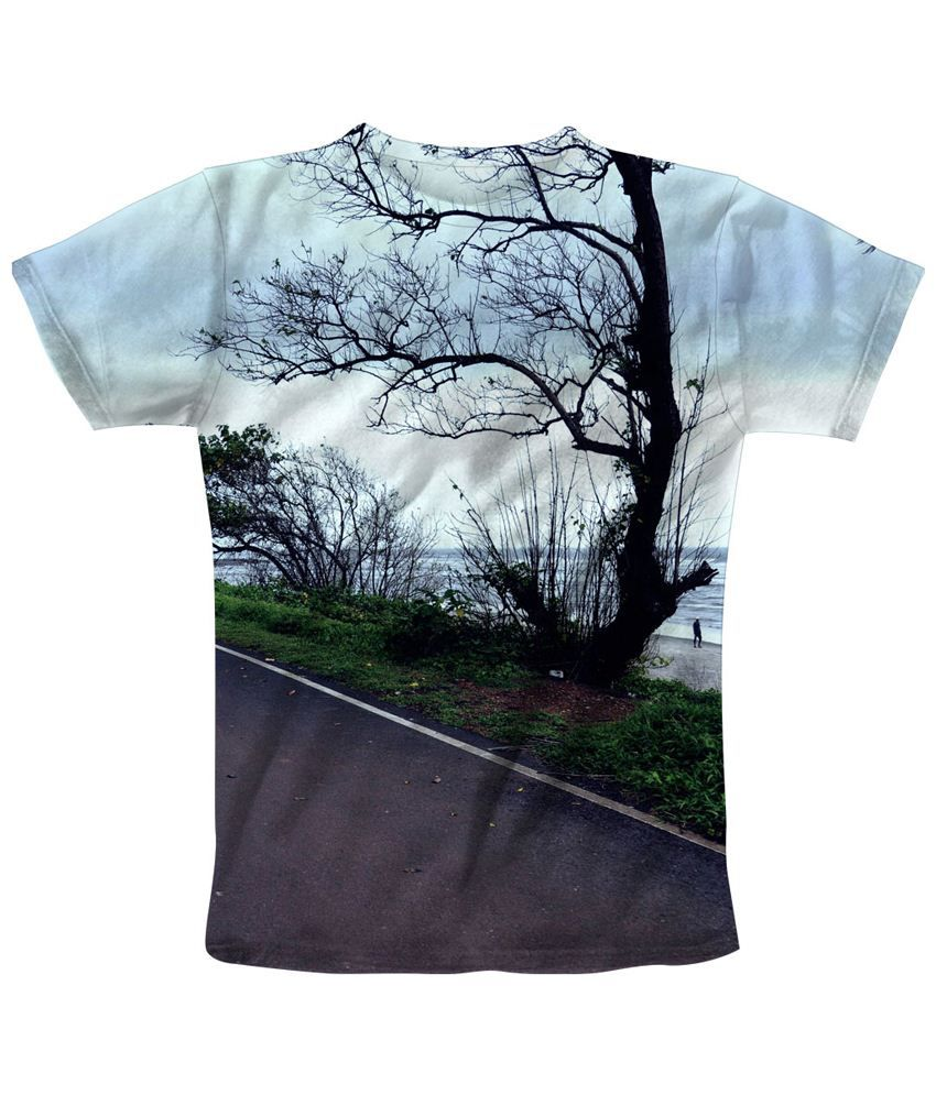 Freecultr Express Multicolour Bare Printed T Shirt