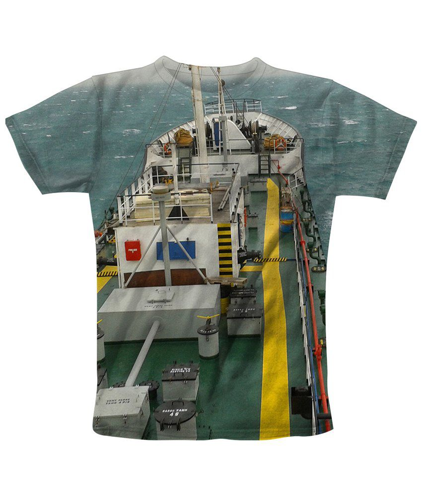 Freecultr Express Multicolour Sail Printed T Shirt