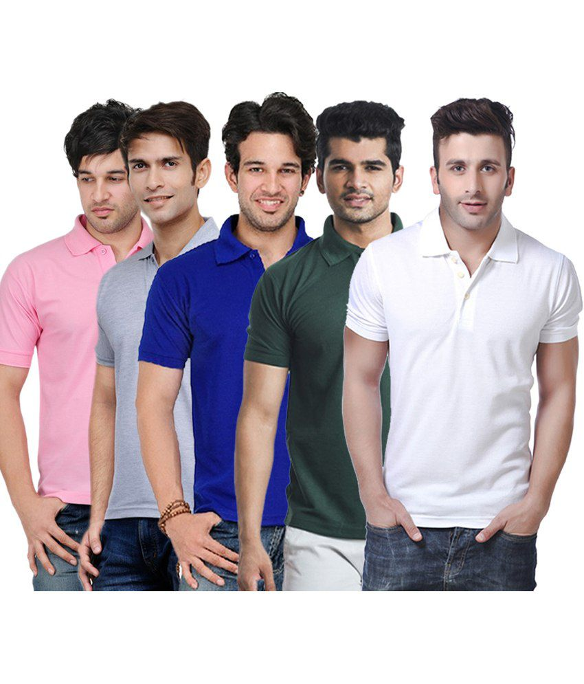 Rakshita's Collection Cotton T- Shirt (SET OF 5)
