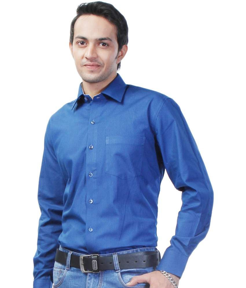 8fb3b78d2624 Sparky Blue 100 Percent Cotton Slim Fit Casual Shirt - Buy Sparky ...