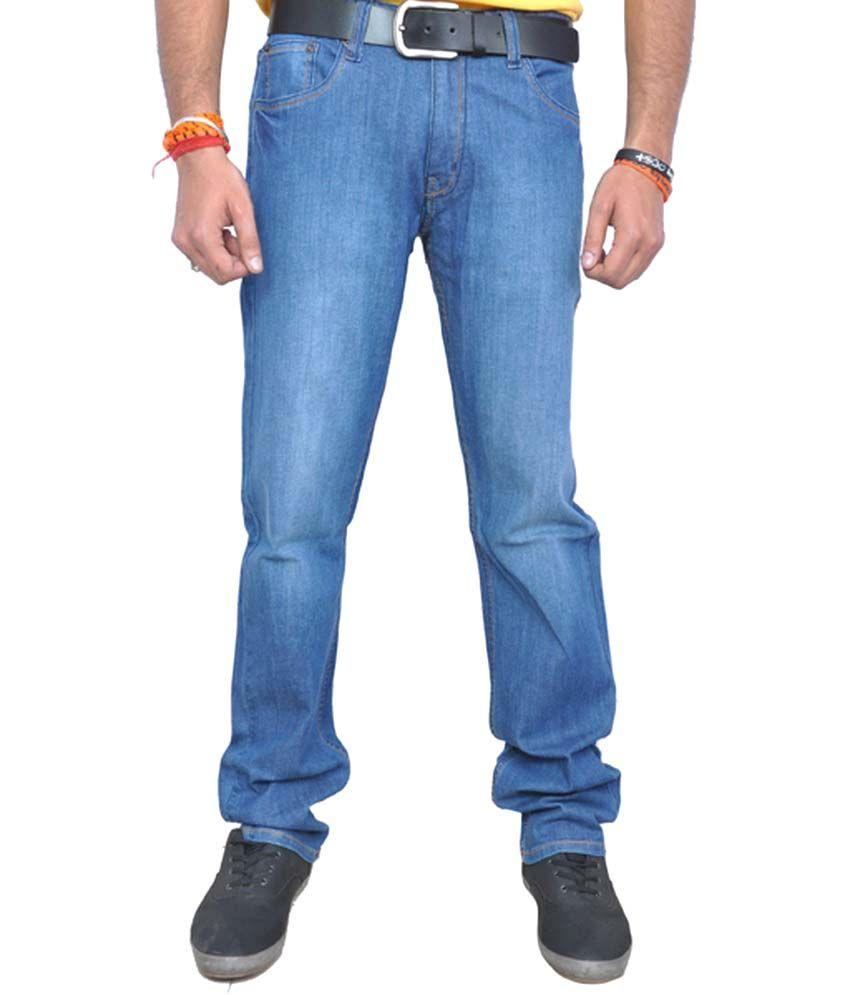 BBN Blue Cotton Regular Basics Jeans