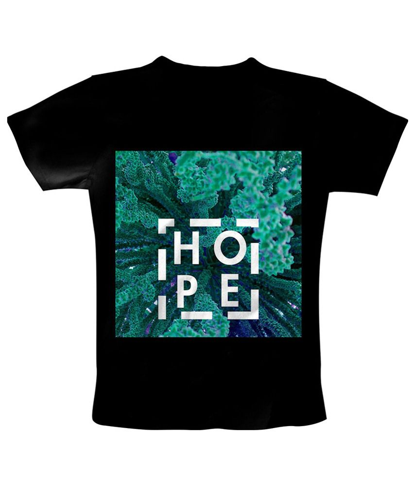 Freecultr Express Black Hope Square Printed T Shirt