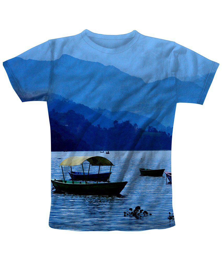 Freecultr Express Blue & Black Eve Printed T Shirt