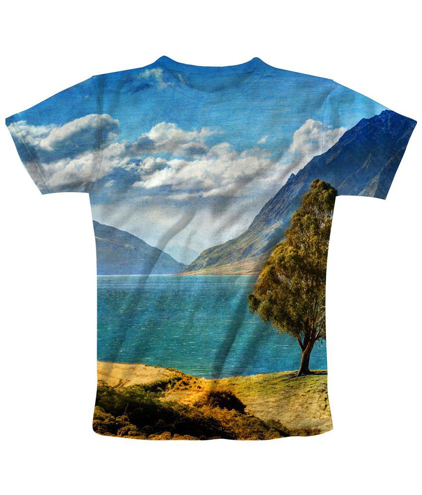 Freecultr Express Multicolour Picturesque Printed T Shirt