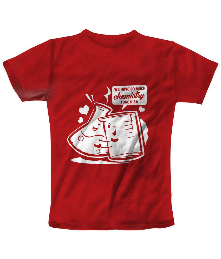 Freecultr Express Red & White Chemistry Printed T Shirt
