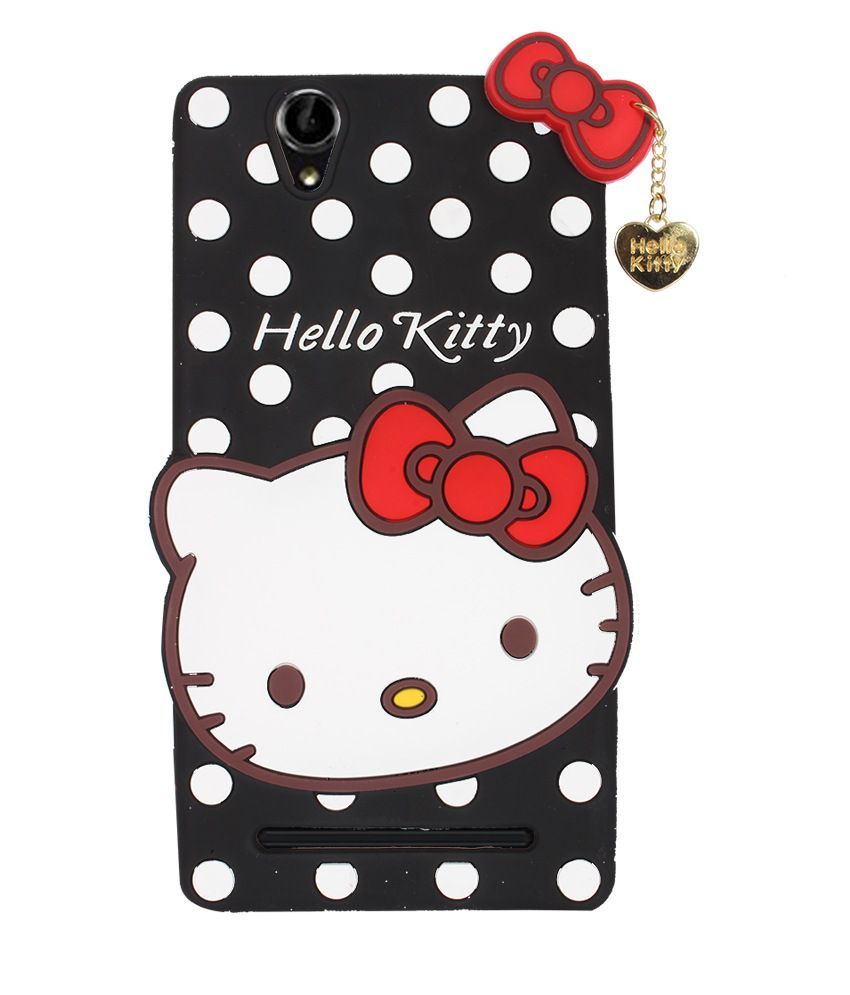 81440b24d Fuson Hello Kitty Girly Back Cover For Sony Xperia T2/ T2 Ultra - Black - Printed  Back Covers Online at Low Prices | Snapdeal India