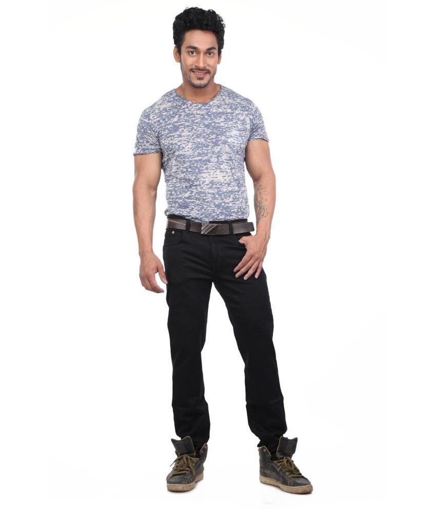 Skyline Black Cotton Blend Jeans