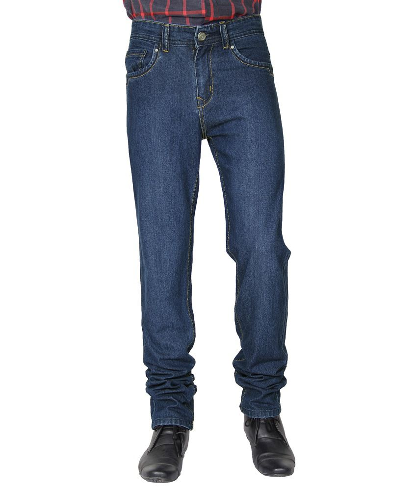 Crocks Club Blue Relaxed Fit Cotton Blend Jeans
