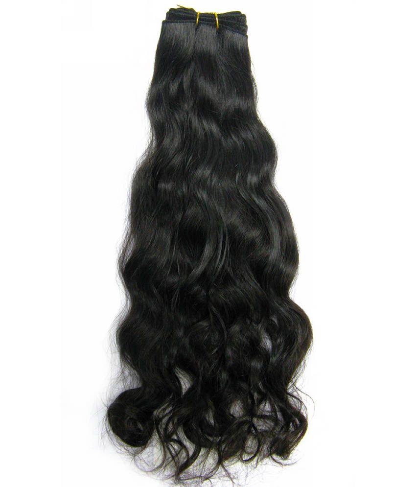 Lemodish Natural Wave Remy Hair Extension 18 Inchesblack Color