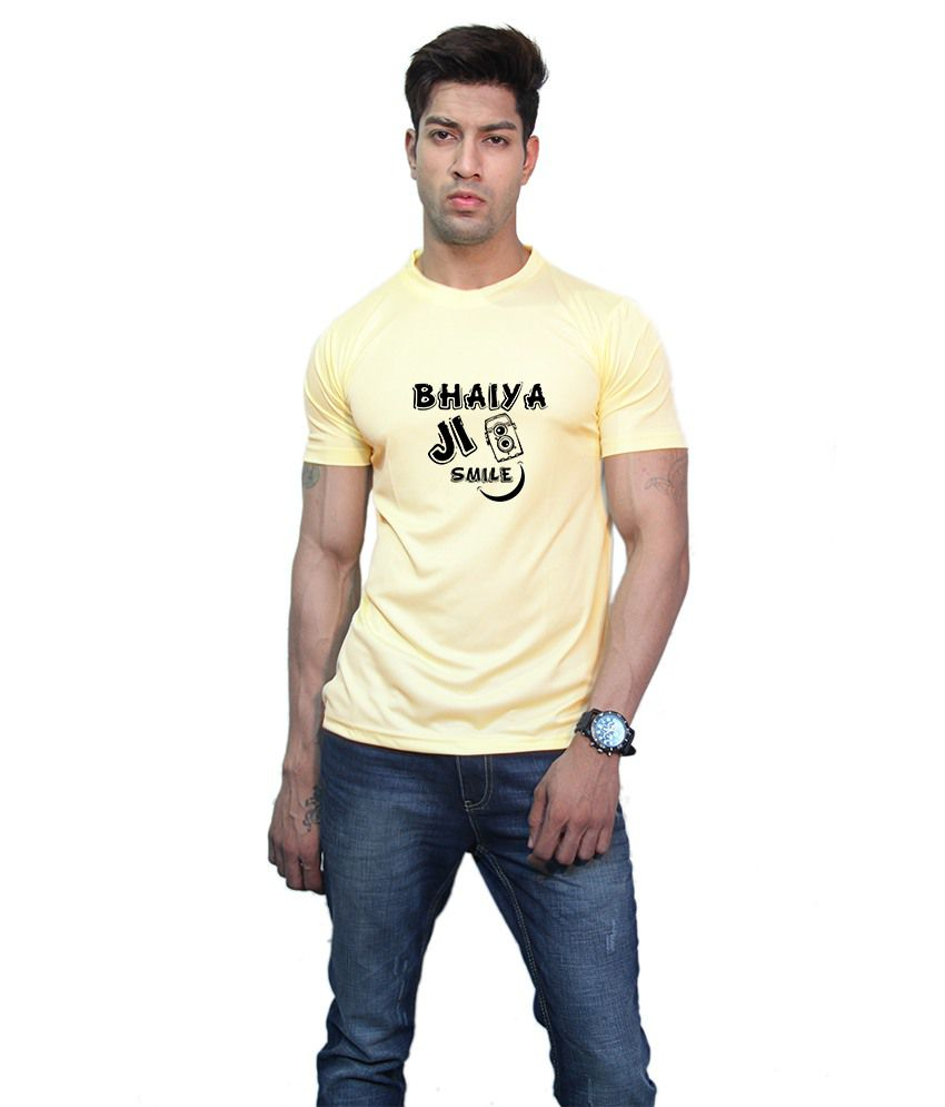 Printland Effit Rewind Yellow T Shirt
