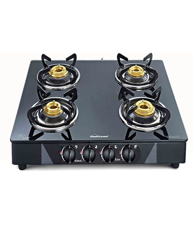 Sunflame Euro Series Manual Gas Cooktop (4 Burner)