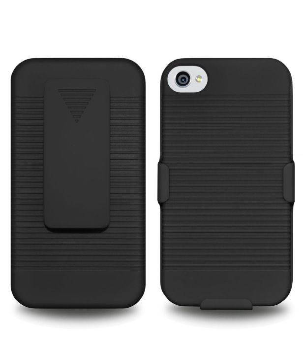 Amzer Black Holster For iPhone 4S