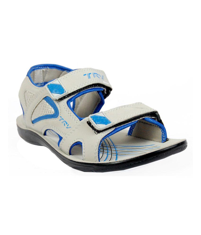 TRV Gray Floater Sandals - Buy TRV Gray Floater Sandals Online at